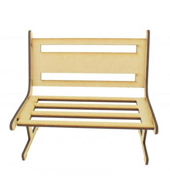 elf furniture. laser cut 3mm bench with solid middle section on the back panel elf furniture