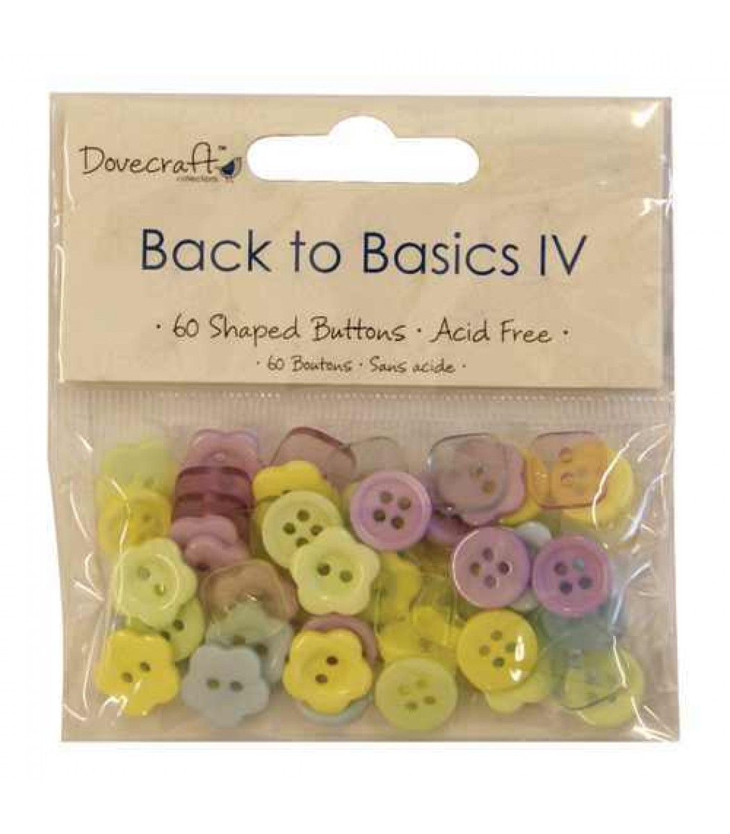 60  Mini Buttons Dovecraft Back to Basics Christmas Traditional
